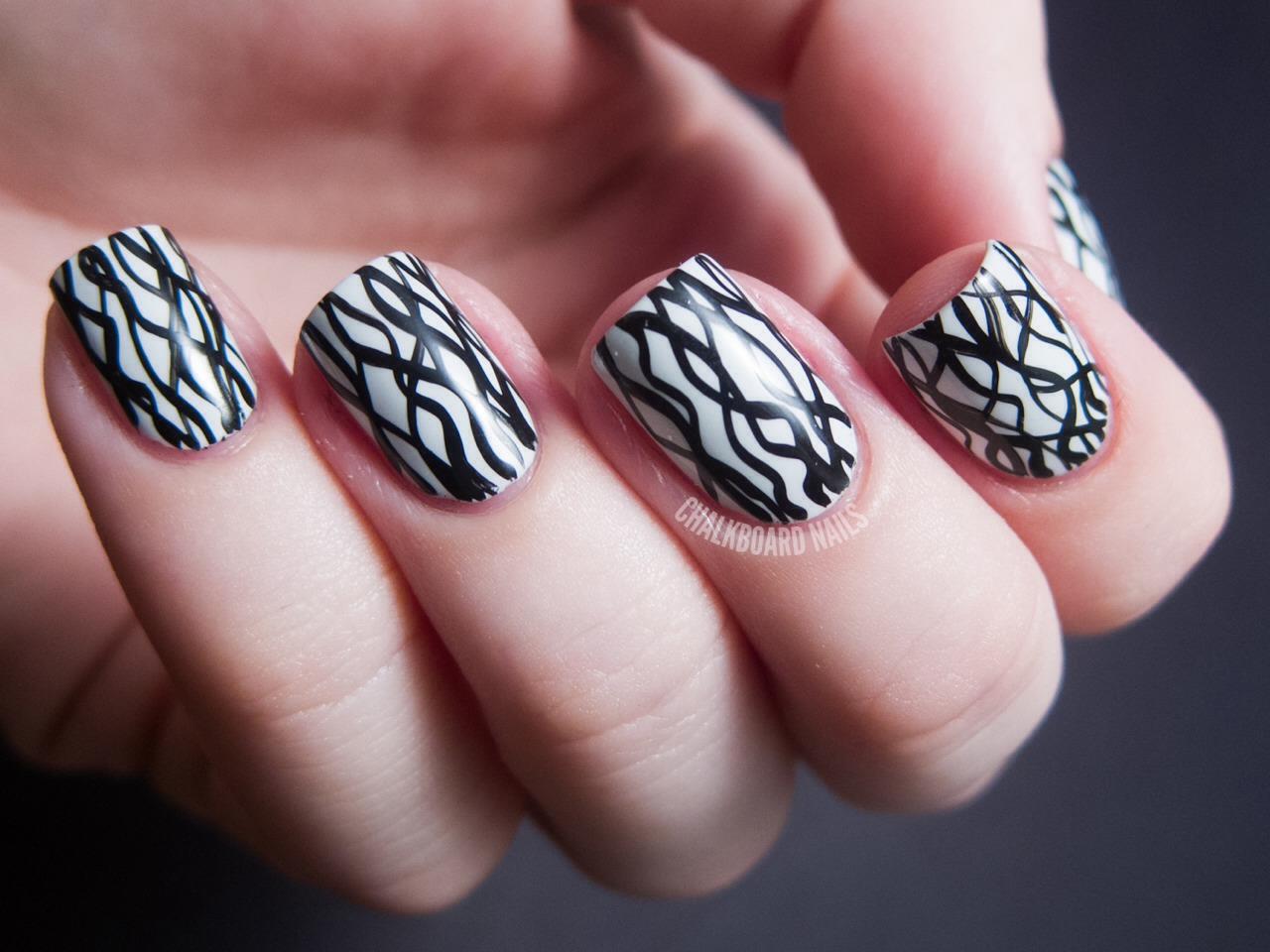 того, черно белая картинка дизайна ногтей такого
