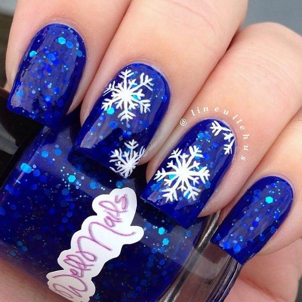дизайн ногтей фото снежинки на ногтях занимается