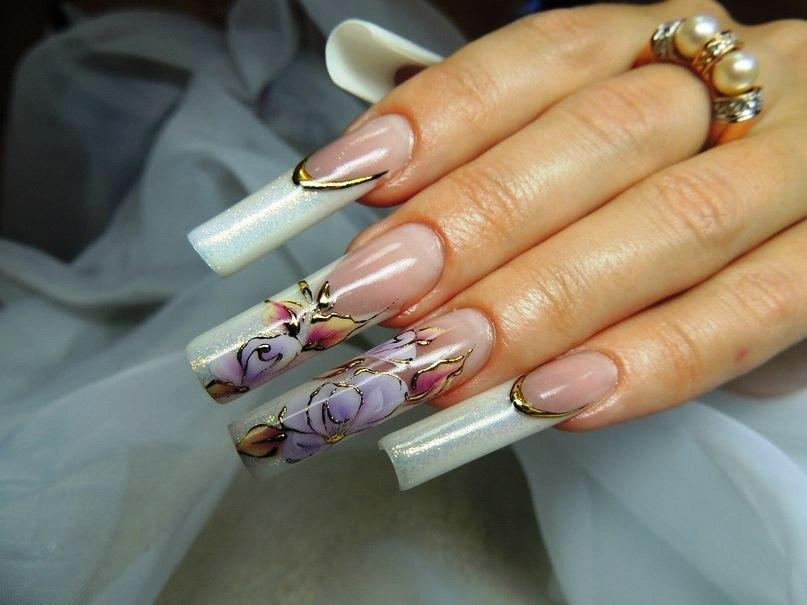 Укрепление ногтей гелем дизайн фото