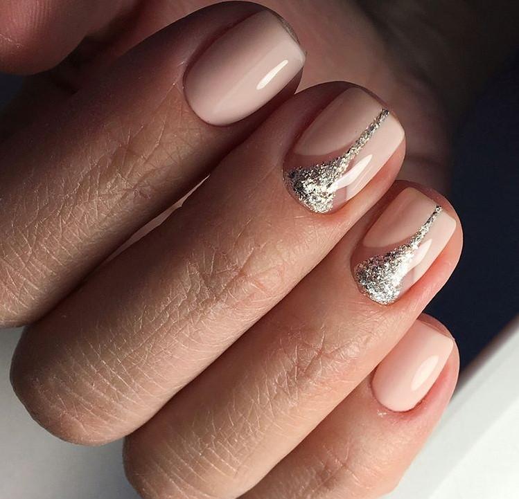 Бордовые Ногти С Рисунком